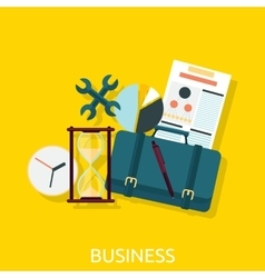 Business Icon Concept Flat Design vector image