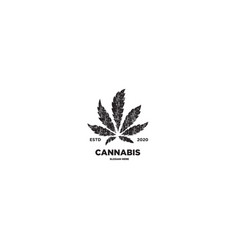 cannabis leaf grunge vector image