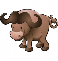 cape buffalo vector image
