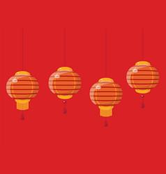 Chinese new year lanterns vector