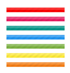 colored striped lines for web vector image
