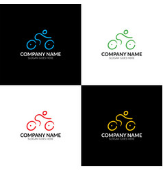 colorful bicycle bike logo logotype icon sign vector image