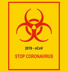 Coronavirus danger and public health risk disease vector