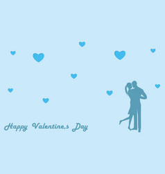 couple in love dancing - blue background vector image