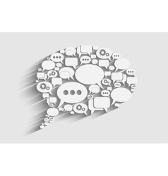 creative bubble speech vector image