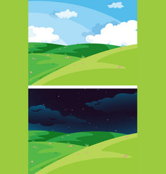 day and night nature scene vector image