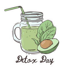 detox day healthy eating program vector image