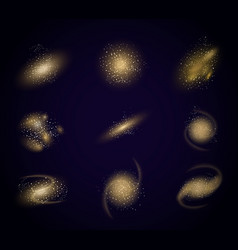 different galaxy vector image