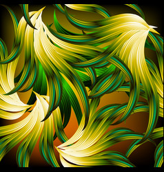 exotic tropical abstract leafy seamless pattern vector image