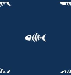 fish bones seamless pattern skeleton sketch vector image