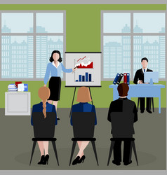 flat human resources background vector image