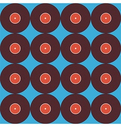 Flat Seamless Background Pattern Music Vinyl Disc vector image