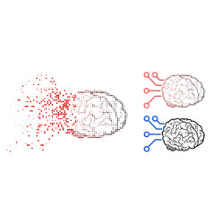 Fractured pixel halftone brain computer interface vector