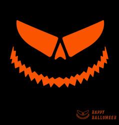 halloween scary pumpkin template vector image