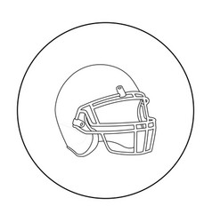 Helmet icon outline single sport icon from the vector