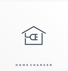 home charger template vector image