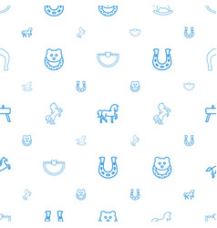Horse icons pattern seamless white background vector