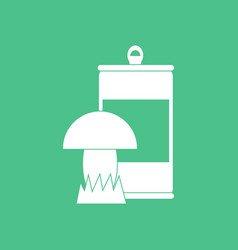 Icon canned and mushroom vector