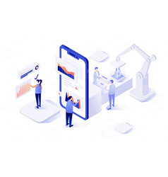Isometric an front-end and vector