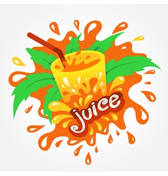 Juice drink beverage splash orange vector