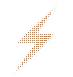 lightning halftone icon vector image