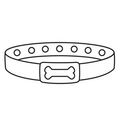 Line art black and white dog collar vector