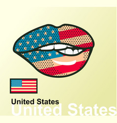 lips with national flag vector image