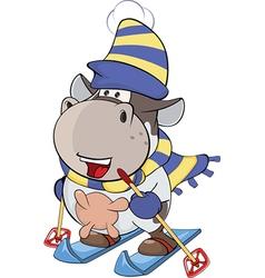 Little cow Cartoon vector