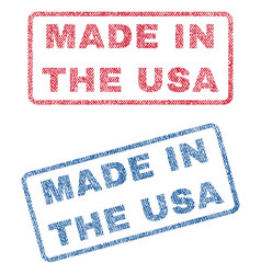 Made in the usa textile stamps vector