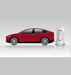 Modern electric car vector