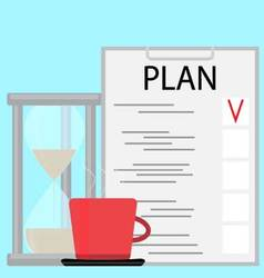 Morning planning concept vector