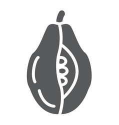 papaya glyph icon food and vitamin exotic fruit vector image