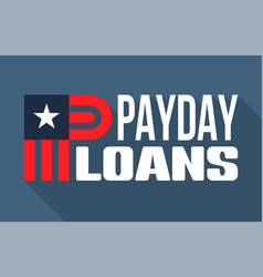 Payday loans banner vector