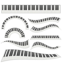 piano kayboard set vector image