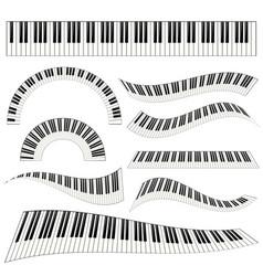Piano kayboard set vector