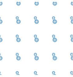 pin on globe icon pattern seamless white vector image