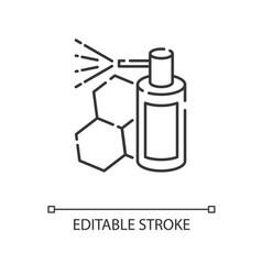 Propolis mouth spray linear icon vector