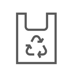 recyclable packaging trash garbage line icon vector image
