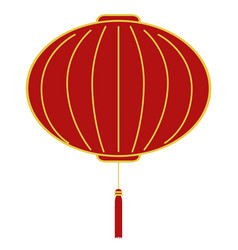red chinese lantern vector image