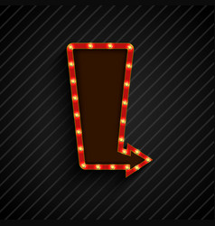 retro arrow black background vector image