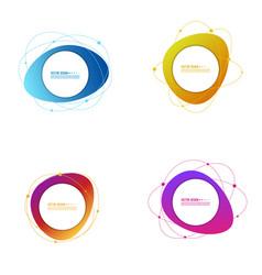 set gradient banners vector image