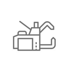 Spot welding machine line icon vector