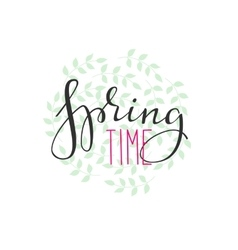 Spring time lettering vector