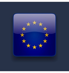 Square icon with flag of Europe vector image