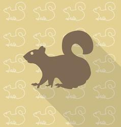 squirrel sit vector image