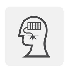 Stress pressure icon vector