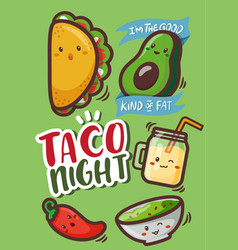 Taco characters vector