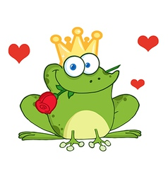 Valentines frog cartoon vector image