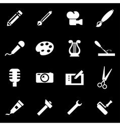 white art tool icon set vector image
