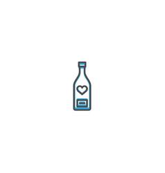 wine bottle icon design lifestyle icon vector image